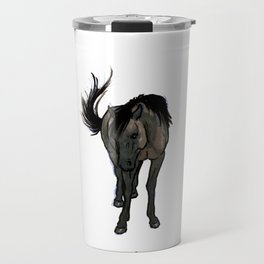 Shy (skeptical horse) Travel Mug