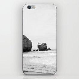 Black and White Dunedin beach - New Zealand iPhone Skin