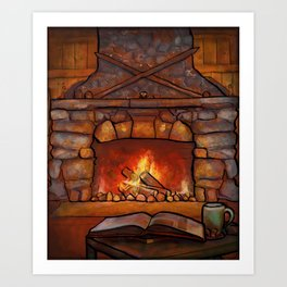 Fireplace (Winter Warming Image) Art Print