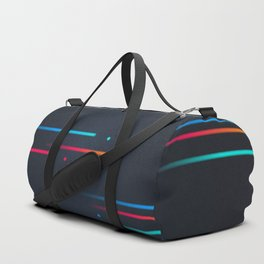 Glitch Cyberscape Duffle Bag