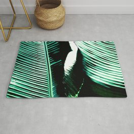 Exquisite Palm Leaves Close-Up Art Photo Rug