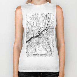 Gothenburg Map Gray Biker Tank