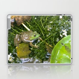 Frog in pond Laptop & iPad Skin