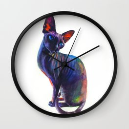 Black sphynx Wall Clock