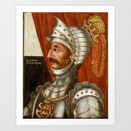 Vintage William The Conqueror Painting Art Print