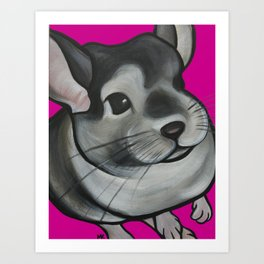 Bella the Chinchilla Art Print