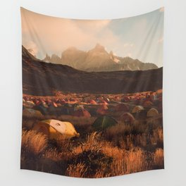 Patagonia Chile Morning Camp Wall Tapestry