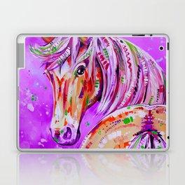 Cinnamon in Pink - Palomino Horse Art Laptop & iPad Skin