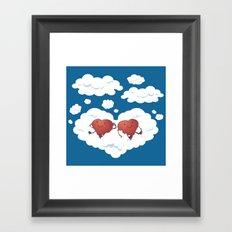DREAMY HEARTS Framed Art Print
