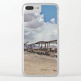Train Graveyard Clear iPhone Case