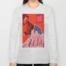 Dino climbing Mt. Rainier Long Sleeve T-shirt
