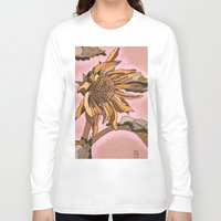 sunflower Long Sleeve T-shirts featuring Sunflower by Dianadia