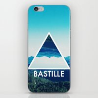 bastille iPhone & iPod Skins featuring BASTILLE by Hands in the Sky