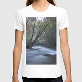 Silver River. Foggy Night at the mountains T-shirt