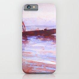 Watercolor painting of Intha fishermen on Inle Lake- Myanmar (Burma) iPhone Case