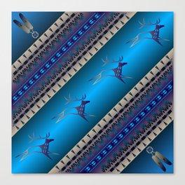 Elk Spirit (Blue) Canvas Print
