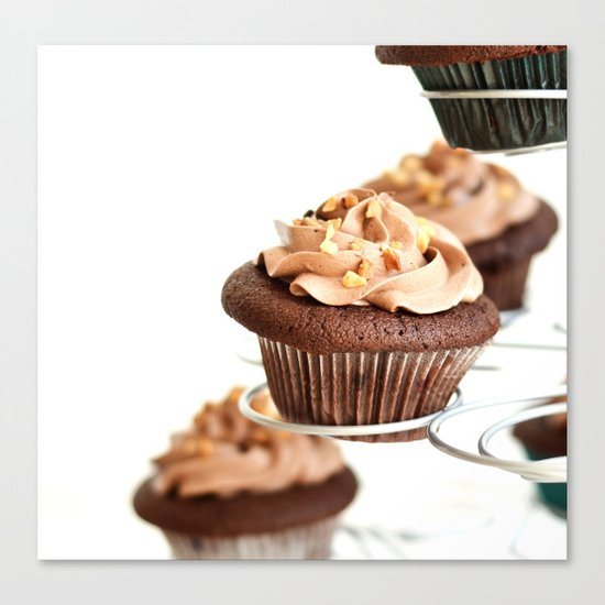 nutella cup cake Canvas Print