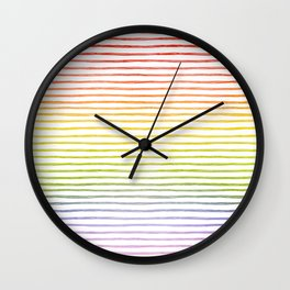 more rainbows please Wall Clock