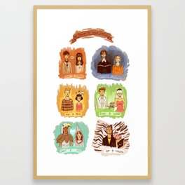 My favorite romantic movie couples Framed Art Print