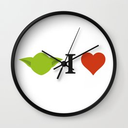 Yoda I Love Wall Clock