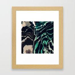 Underwater Stripes Framed Art Print