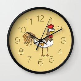 Silly Chicken Wall Clock