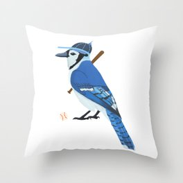 Baseball Blue Jay Throw Pillow