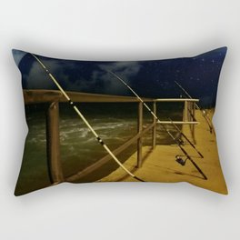 night fishing Rectangular Pillow