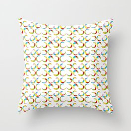 Multicolor moons-abstraction,abstract,geometric,geometrical,pattern,circle,sphere Throw Pillow