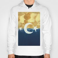 moonrise Hoodies featuring Moonrise by Abby Snyder
