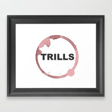 Trills Logo Framed Art Print