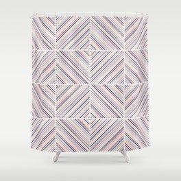 Herringbone Diamonds - Mauve Shower Curtain