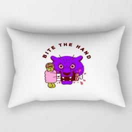 Bite the Hand Rectangular Pillow