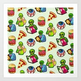 Bad Aliens  Art Print