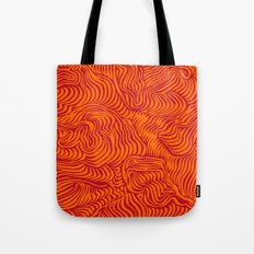 orange red flow Tote Bag