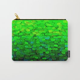 Glitter Sparkles Green Carry-All Pouch