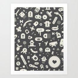 Monters Love Art Print