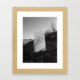 IT'S A SHEET OF ICE OUT THERE ! Framed Art Print