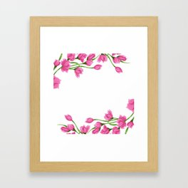 Roses crown Framed Art Print