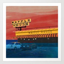 Waffle House, 2060 Art Print
