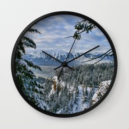 Winter View Wall Clock