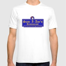 Sam-I-Am's SMALL White Mens Fitted Tee