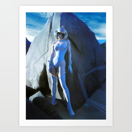 Pepper Rock Art Print