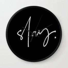 Slay (black) Wall Clock