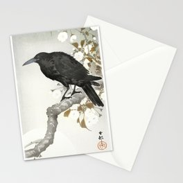 A crow and the full moon (1900-1930) by Ohara Koson (1877-1945) Stationery Cards