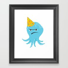 Squid of Partypooping Framed Art Print