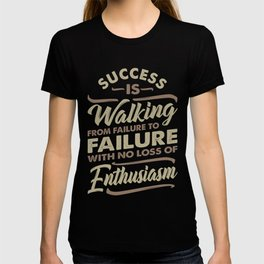 Success Is Walking - Motivational T-shirt