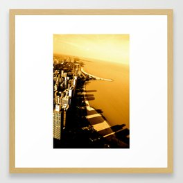 Chicago Shadow Skyline, 001 Framed Art Print