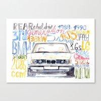 bmw Canvas Prints featuring BMW e36 by dareba