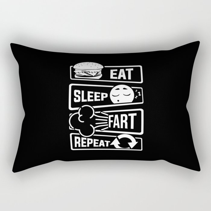 Eat Sleep Fart Repeat | Farting Flatulence Smell Rectangular Pillow